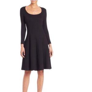 Theory Black midi dress